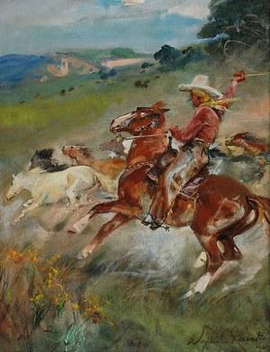 Wojciech KOSSAK (1856-1942), Cowboy, 1927
