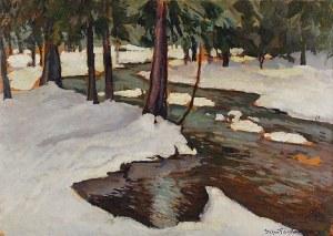 Stefan FILIPKIEWICZ (1879-1944), Potok zimą, 1909