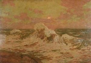 Iwan TRUSZ (1869-1940), Wzburzone morze o zachodzie słońca