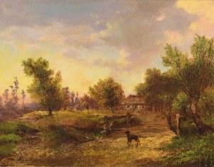 Adam MALINOWSKI (1829-1892), Pejzaż z chatą