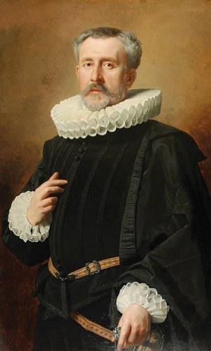 Andrzej Jerzy MNISZECH (1823-1905), Portret mężczyzny w kryzie, 1888
