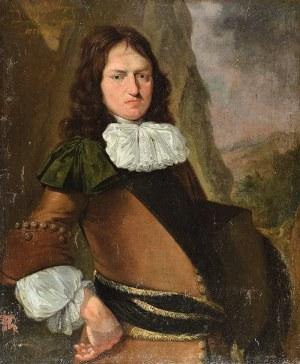 Malarz nieokreślony, holenderski, XVII w., Portret młodego mężczyzny, 1673?