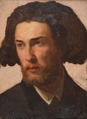 Wojciech GERSON (1831-1901), Głowa młodego mężczyzny - Studium - Głowa męska, ok. 1880