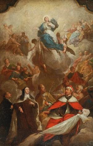 Jan Piotr MOLITOR (1702-1756), Wniebowzięcie Matki Bożej w asyście świętych, 1742