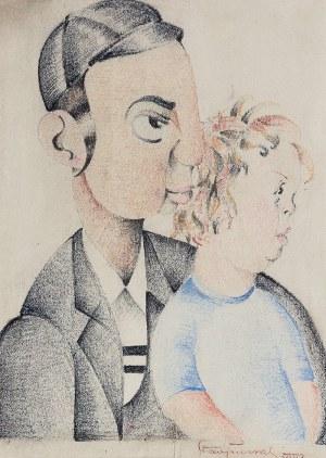 Stanisław PRUSSAK, XX w., Ojciec z dzieckiem, 1932