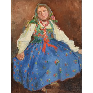 Wawrzyniec CHOREMBALSKI (1888-1965), Młoda góralka, 1921