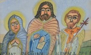 Nikifor KRYNICKI (1895-1968), Jezus ze świętymi