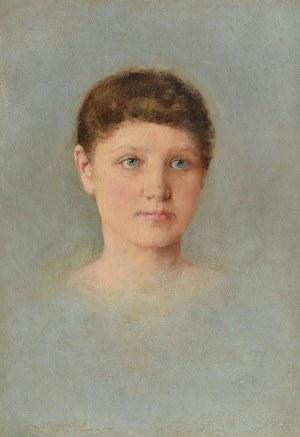 Aleksander AUGUSTYNOWICZ (1865-1944), Głowa młodej kobiety, 1891
