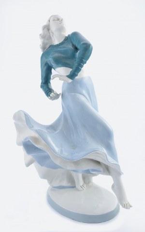 Elly STROBACH - KÖNIGOVA [KOENIG] (1908-2002)- model, Royal Dux (Duchcov) Bohemia, Tańcząca