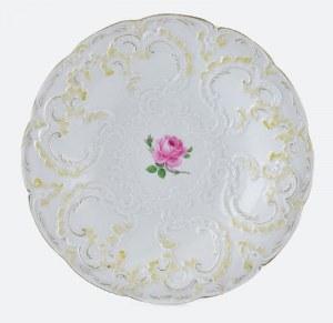 Manufaktura Porcelany w Miśni, Talerz neobarokowy z różą