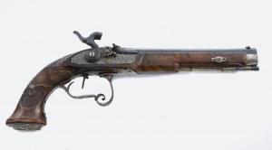 VALENTIN CHRISTOPH MORITZ SCHILLING (ur.1791; w 1842 zał. Militär und Luxus Waffen Fabrik), Pistolet kapiszonowy