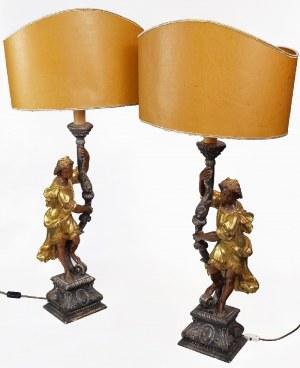 Para lamp elektrycznych, przyściennych