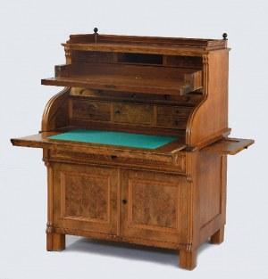 Biurko - kantorek typu Ludwik Filip, z cylindryczną pokrywą