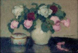 Alfons Karpiński (1875-1961), Róże w wazonie