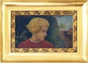 Wlastimil Hofman (1881-1970), Portret chłopca w czerwonym kubraczku