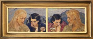 Wlastimil Hofman (1881-1970), Chrystus w czasie 40-dniowego postu, Kusiciel namawiający do odstąpienia od postu, 1934