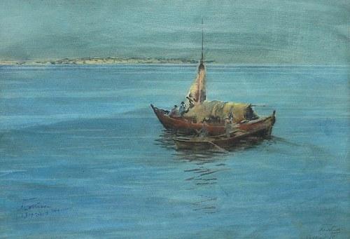 Marian Mokwa (1889 Malary - 1987 Sopot), U wybrzeży Stambułu, 1914 r.