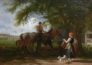 Friedrich Wilhelm Jäger (1833 Schlitz - 1888 Monachium), Przy studni