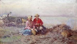 Adam Setkowicz (1875 Kraków - 1945 tamże), Scena rodzajowa