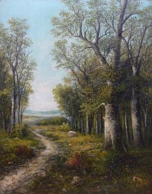 R.Windt (XIX/XX w.), Droga w lesie