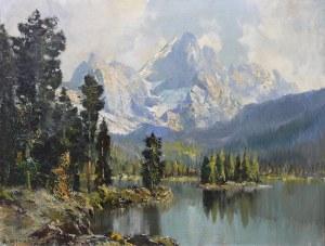 Artysta nieokreślony (XIX/XX w.), Pejzaż z jeziorem