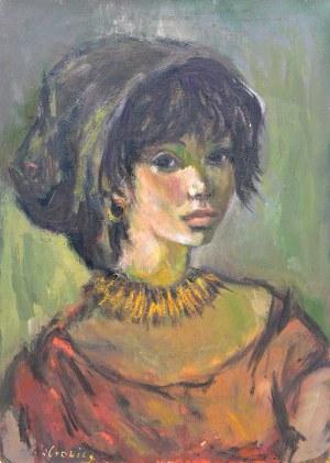 Katarzyna Librowicz (1912 Warszawa - 1991 Paryż), Portret młodej kobiety w czepku