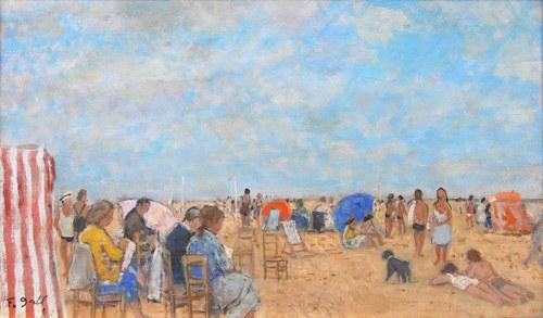 François Gall (1912 Kluż-Napoka-1987 Paryż), Plaża w Deauville