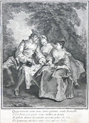 Louise-Madeleine Horthemels (1686-1777), Scena w parku