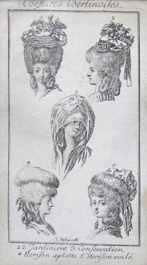 Daniel Chodowiecki (1726 Gdańsk - 1801 Berlin), Coeffures Berlinoises, ok. 1780 r.