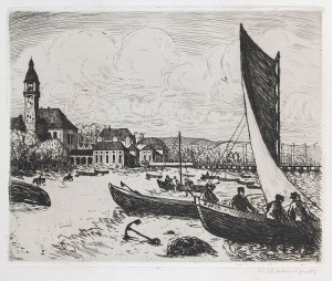 Berthold Hellingrath (1877 Elbląg - 1954 Hannover), Plaża w Sopocie, 1923 r.