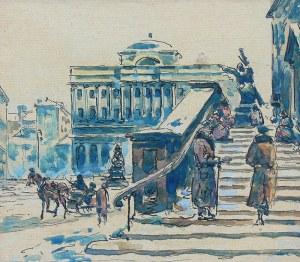 W. Górski (XIX/XX w.), Widoki Warszawy: Kolumna Zygmunta, Wejście do kościoła św. Krzyża, Stare Miasto