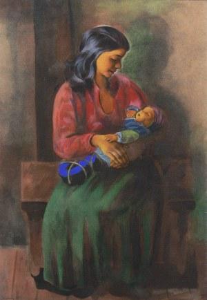 Mojżesz Kisling (1891 Kraków - 1953 Sanary-sur-Mer), Macierzyństwo, 1952 r.