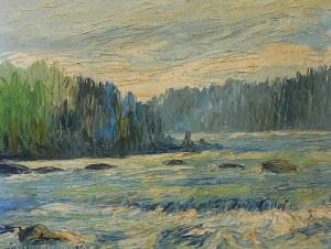 Artysta nieokreślony (XX w.) Pejzaż z rzeką