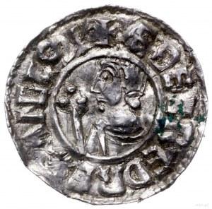denar typu Crux, 991-997, mennica Winchester, mincerz A...