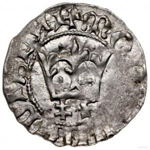 półgrosz, 1412-1414, mennica Kraków; Aw: Korona, niżej ...
