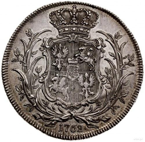talar próbny 1762, Lipsk; Aw: Popiersie króla w koronie...