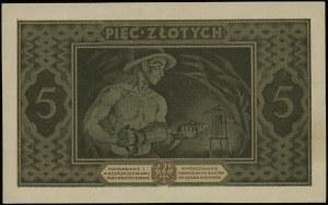5 złotych 25.10.1926; seria B, numeracja 2280443; Lucow...