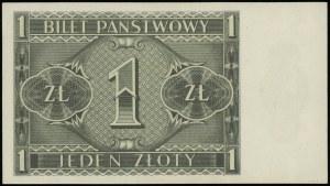 1 złoty 1.10.1938; seria J, numeracja 4957433; Lucow 71...