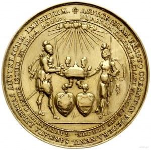 medal o wadze 40 dukatów wybity na pamiątkę zaślubin Wł...