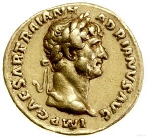 Aureus, 119–122, mennica Rzym; Aw: Głowa cesarza w wień...