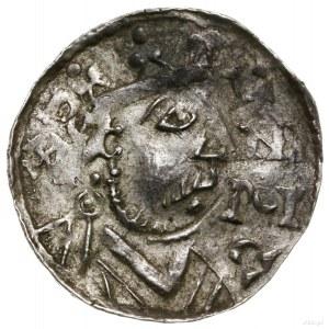 Denar, 1009–1024, mincerz Id; Aw: Popiersie władcy w pr...