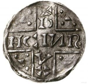 Denar, 1018–1026, mincerz Aza; Aw: Dwunitkowy krzyż wew...