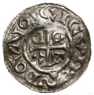 Denar, 1039–1042; Aw: Popiersie władcy w prawo, w koron...