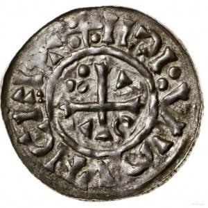 Denar, 1002–1009, mincerz Ag; Aw: Krzyż grecki z rozsze...