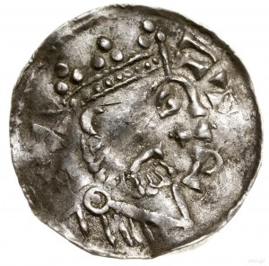 Denar, 1009–1024; Aw: Popiersie władcy w prawo, w koron...