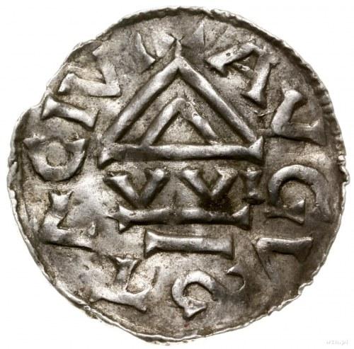 Denar, 1000–1006, mincerz Vilja; Aw: Krzyż grecki, w ką...
