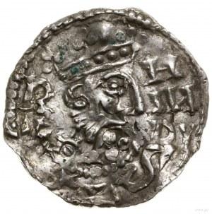 Denar, 1009–1024; Aw: Popiersie władcy w prawo, R / X -...