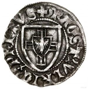 Szeląg, 1409–1410, mennica Gdańsk; Aw: Tarcza wielkiego...