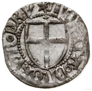 Szeląg; Aw: Tarcza Wielkiego Mistrza, ✶ hINRICVS ◦ LOCV...