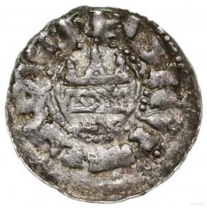 Denar, ok. 1170–1180, mennica Kołobrzeg; Aw: Głowa św. ...